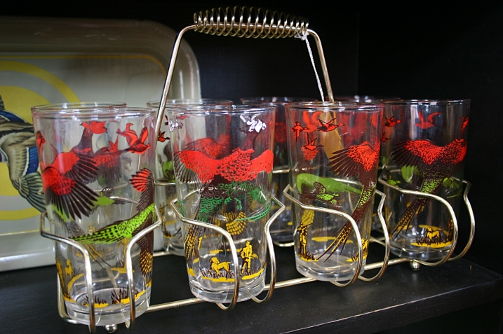 Pheasant glasses like this are coveted by some members of my extended family.