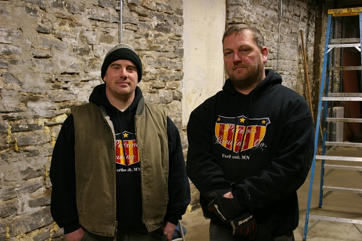 Chris Voegele , left, and Noah Strouth, owners of Patriot's Brewing Company