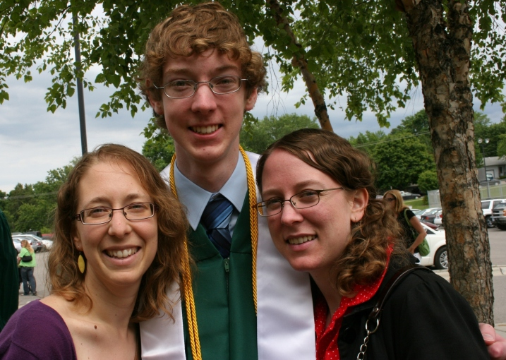 My three, after the son's June 2012 graduation.