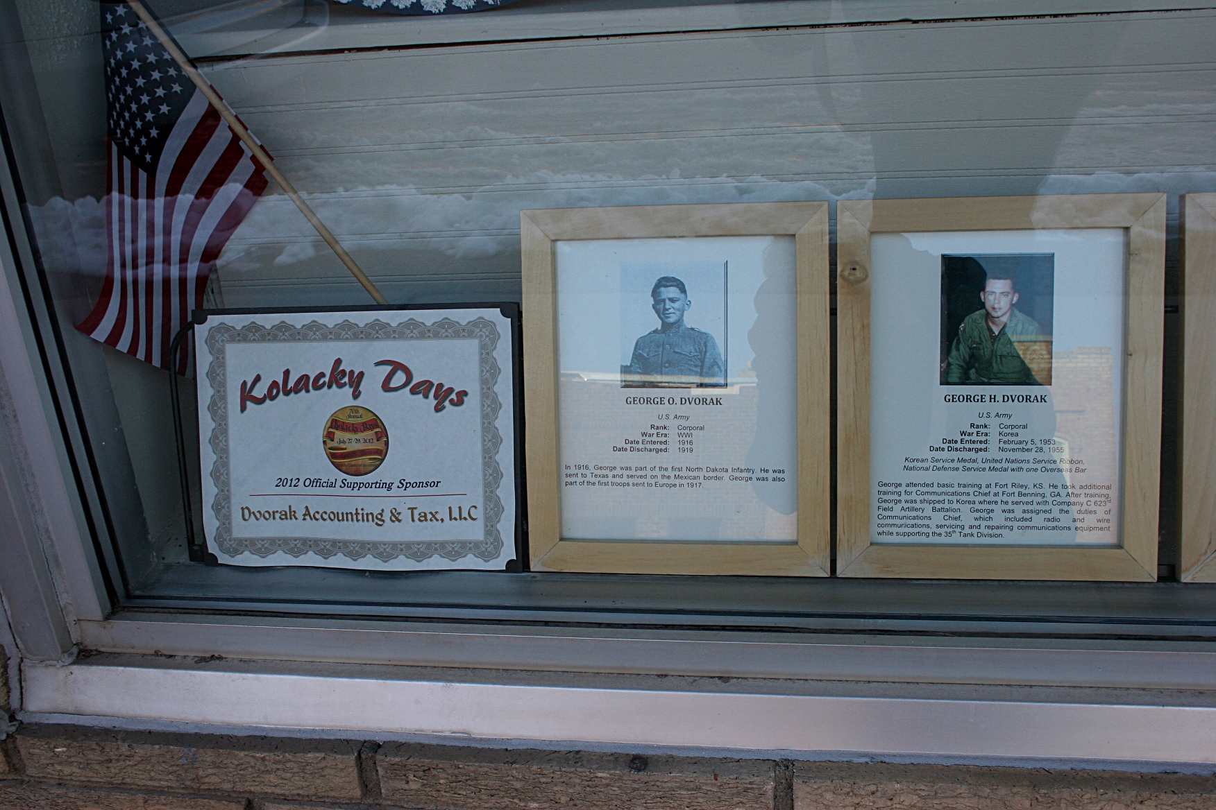 Veterans photos and info posted at Dvorak Accounting & Taxes.