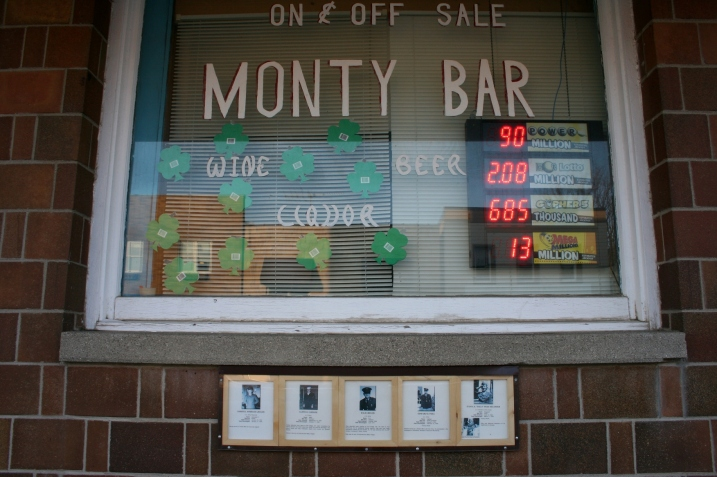 Honoring veterans at the Monty Bar.