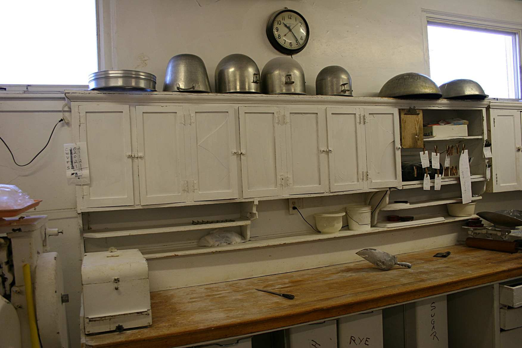 Behind the scenes in the bakery's kitchen.