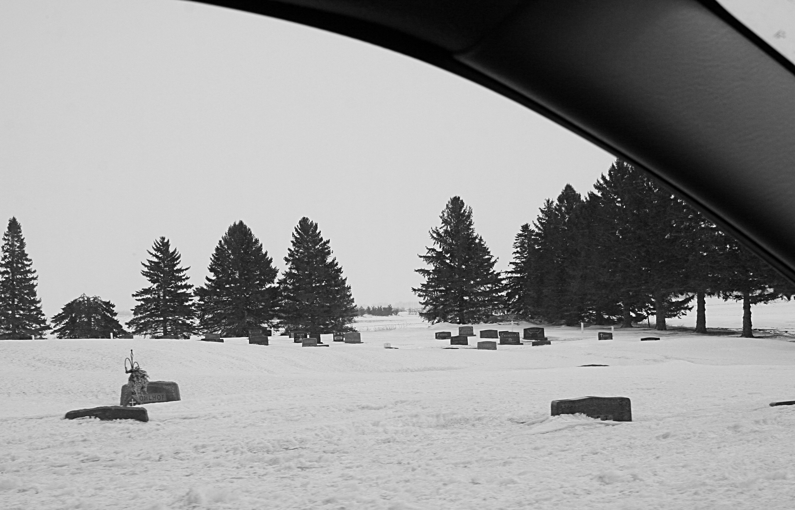 The closest I would get to my dad's grave was viewing the cemetery through t