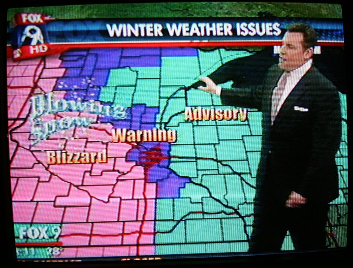 FOX 9 news at 8 a.m. shows just how bad the current weather situation is in Minnesota.