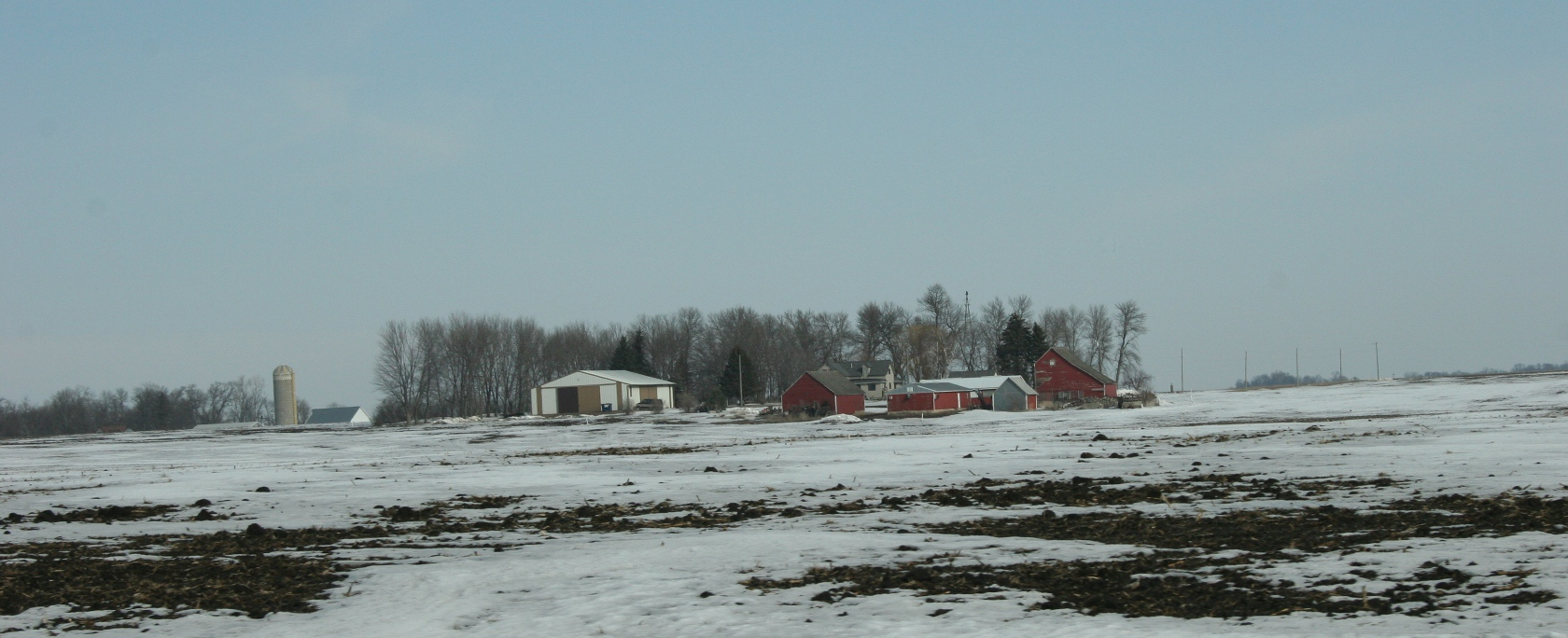 Highway 14 slices through agricultural land, as seen in this photo taken between Nicollet and Courtland.