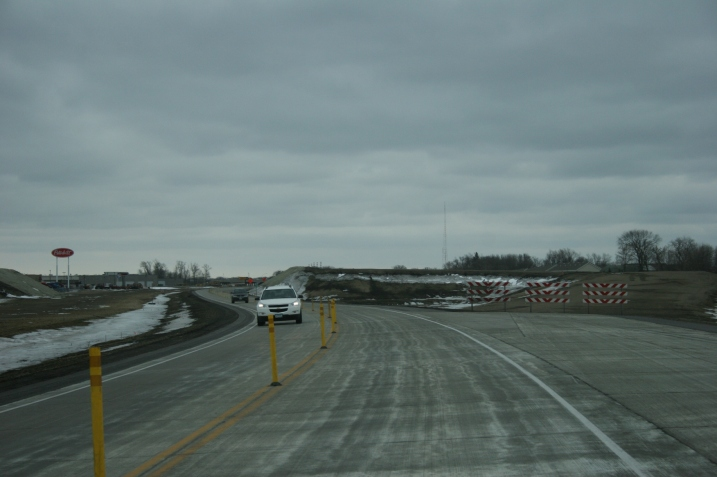 We were driving eastbound in this Highway 14 construction area in North Mankato when I snapped this photo.