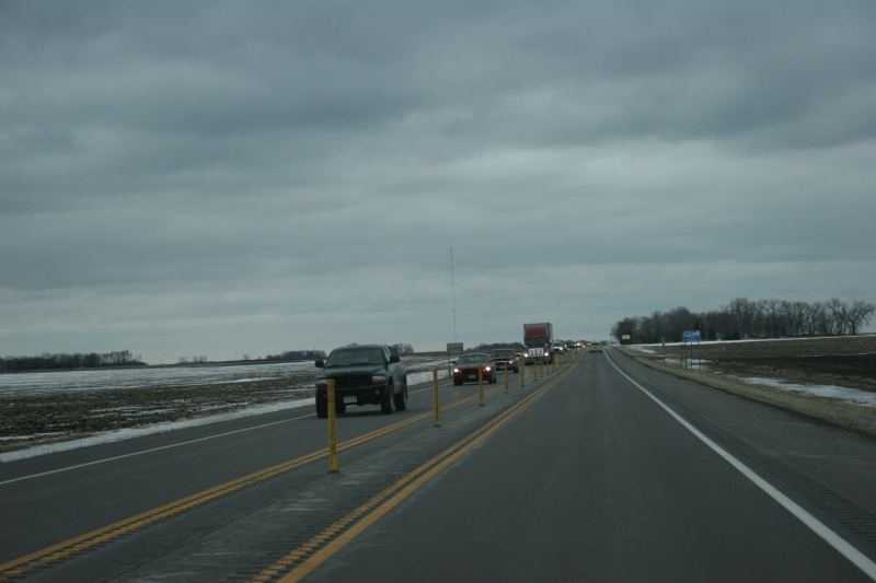 Heavy traffic on U.S. Highway 14 between Nicollet and North Mankato late last Sunday afternoon.