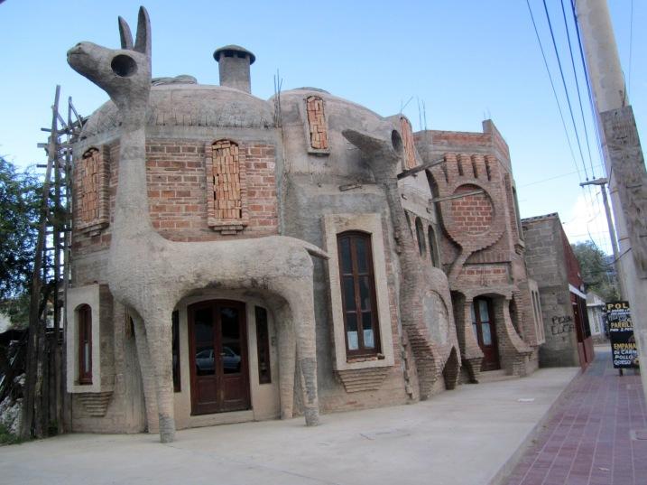 Unique restaurant architecture in Cafayate, Salta province.