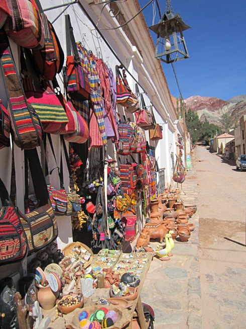 An open air market in Purmamarca, Jujuy province.