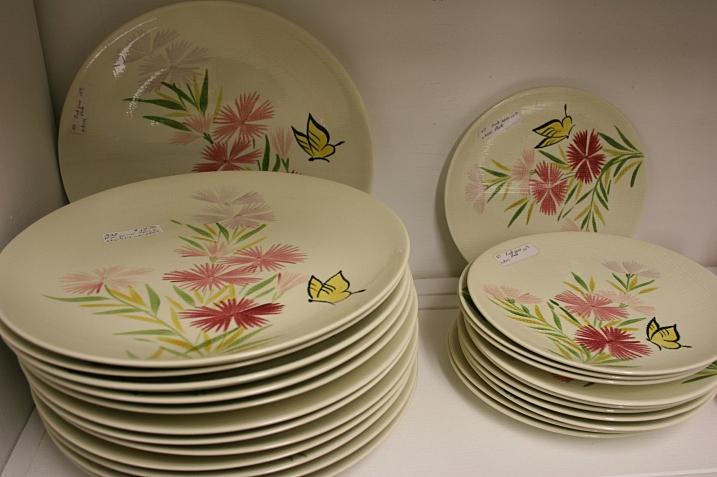 Pretty, pretty floral plates.