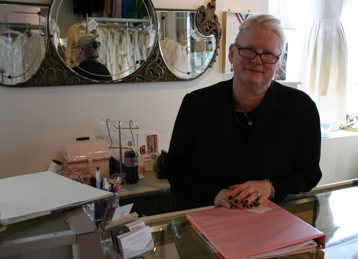 Andrea Erickson, bridal boutique owner and therapist.