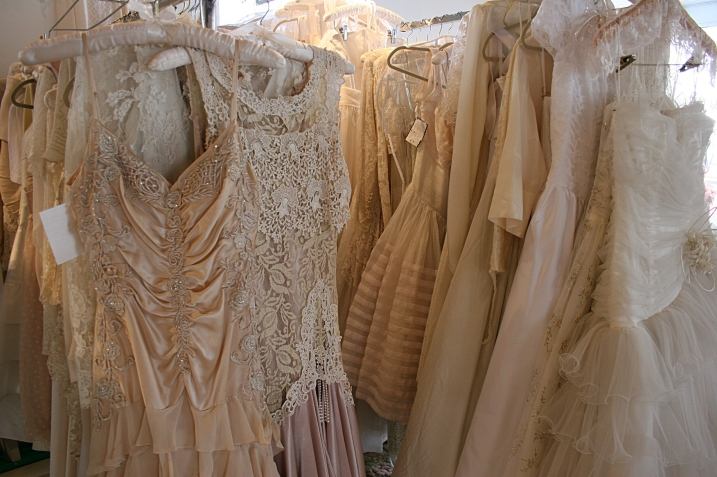 Andrea's focuses on redesigning vintage wedding dresses.