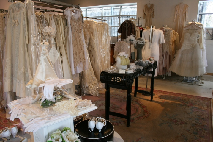 Inside Andrea's you'll find a wide selection of vintage dresses, shoes and accessories.