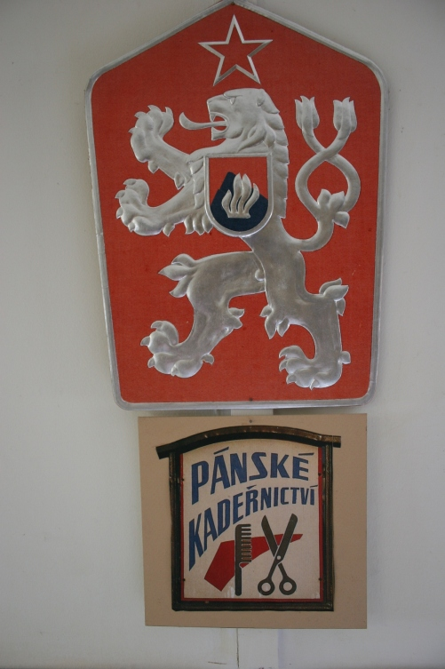 A Czech emblem, a nod to Steve's heritage and that of most folks living in Montgomery.