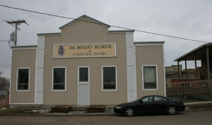 Big Honza's Museum of Unnatural History, right behind Pizzeria 201.