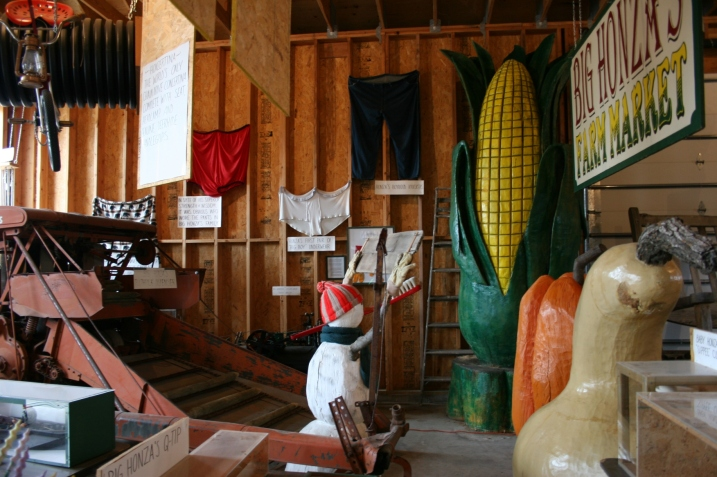 A snippet of what you will see in the museum, including Big Honza's Farm Market, a nod to the local canning company.