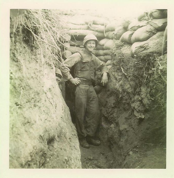 U.S. Army Cpl. Elvern Kletscher, my father, in the trenches in Korea.