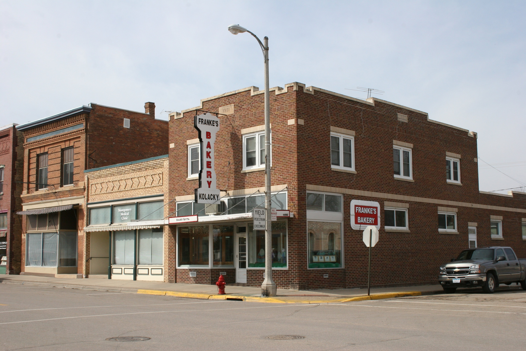 Franke's Bakery opened in 1914.