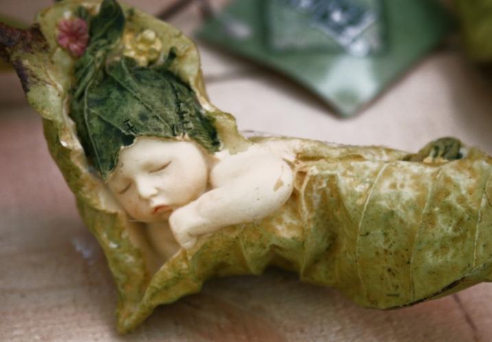 Greenhouse, baby sleeping