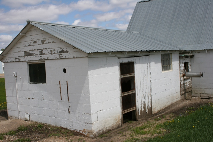 The milkhouse, attached to family barn. File photo.