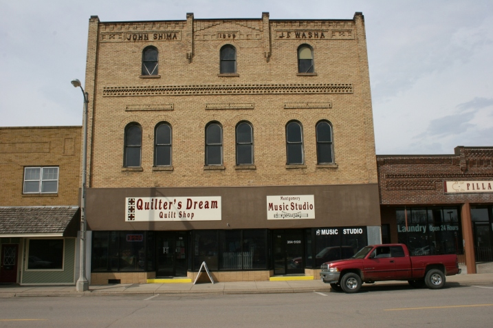 Michelle McCrady owns Quilter's Dream and the adjacent music store, 116 First Street South in downtown Montgomery.