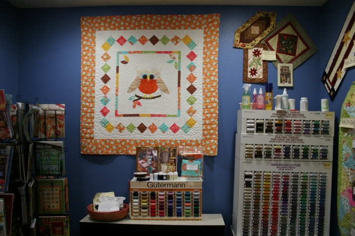 This owl quilt centers a back nook.
