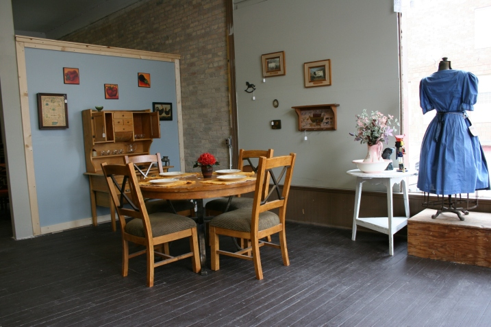 I purchased the white table on the right and had to keep myself from buying the $60 dining room set.