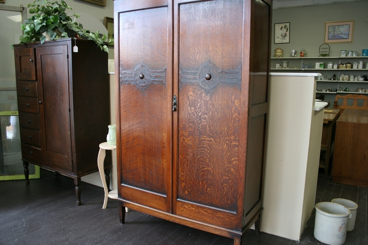 Love these old wardrobes for sale at Rani's.
