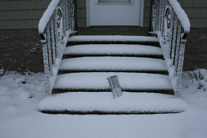 I shoveled my way to the front steps to retrieve The Faribault Daily News.