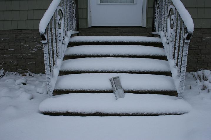 I shoveled my way to the front steps to retrieve The Faribault Daily News.
