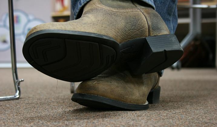 Todd Boss' boots.