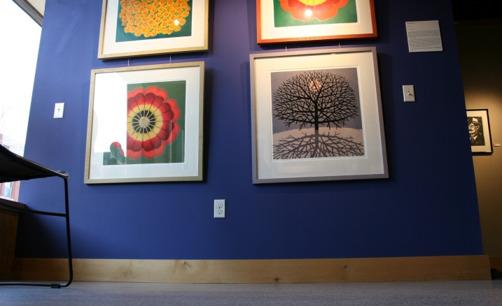 Examples of Charles Beck's woodcut prints in the Kaddatz Galleries.