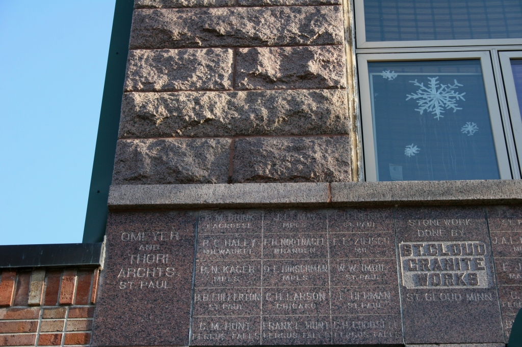 Words chiseled in granite on the front of a building. I would love to know the story behind this.