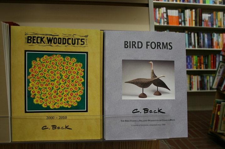 The art of well-known Fergus Falls resident Charles Beck, noted for his woodcut prints, featured in two books printed by Victor Lundeen Company. The books are sold in the bookstore. Across the street, you can view Beck's art at the Kaddatz Galleries.