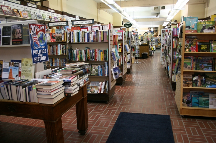 The independent bookstore portion of Victor Lundeen Company on the first floor. Gifts and office supplies are also sold here.