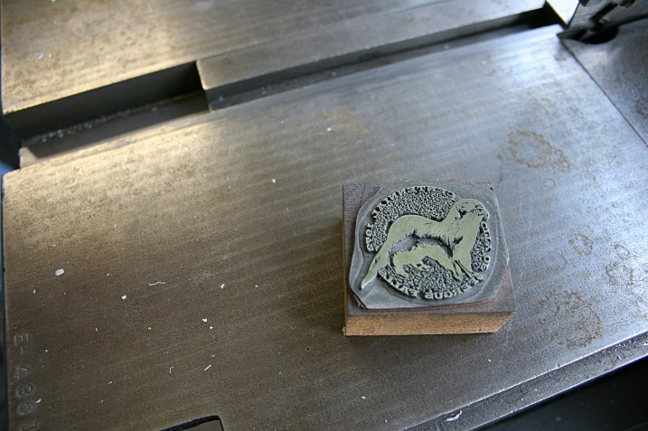While digging through all that vintage art, we found this City of Fergus Falls Centennial Seal of an otter. The city is located  in Otter Tail County.
