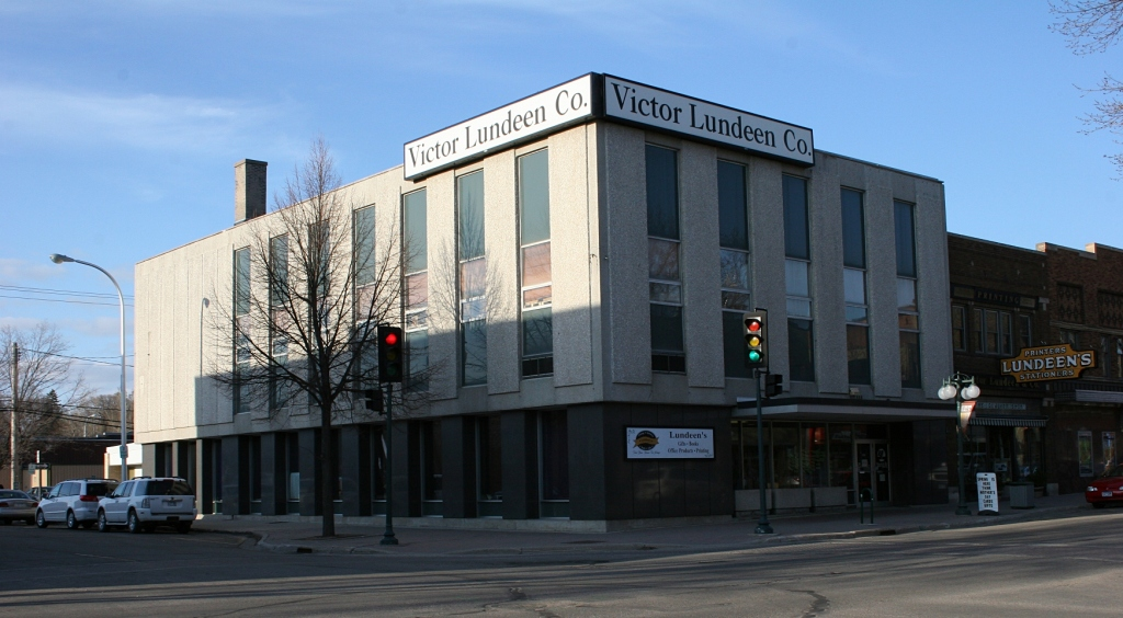 The Victor Lundeen Company, located in the 100 block of West Lincoln Avenue, downtown Fergus Falls.