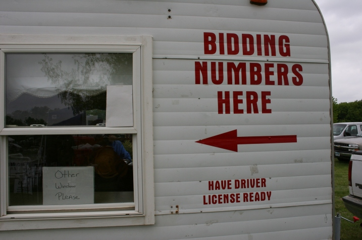 Signs tell a story, too, like this on an auction wagon there for the live auction.