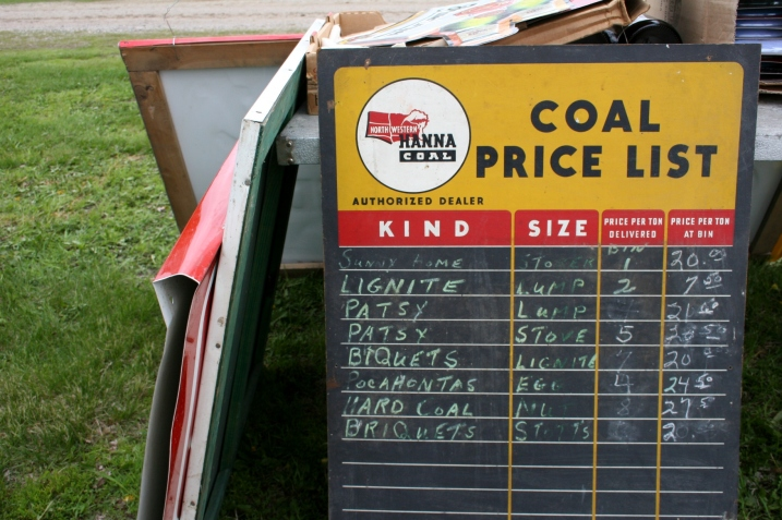 Market, coal price list