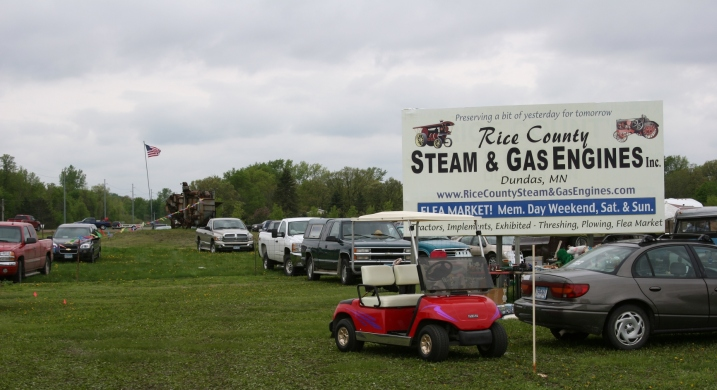The Rice County Gas & Steam Engines Flea Market is located three miles south of Northfield along Minnesota Highway 3.