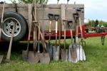 Market, shovels