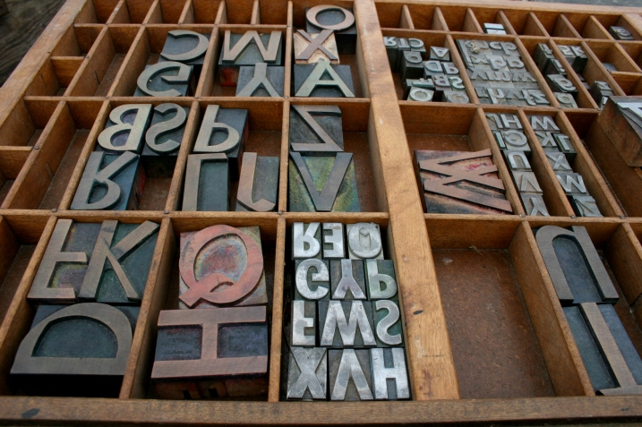 Wood and lead type, some of which I wanted to buy, but didn't.