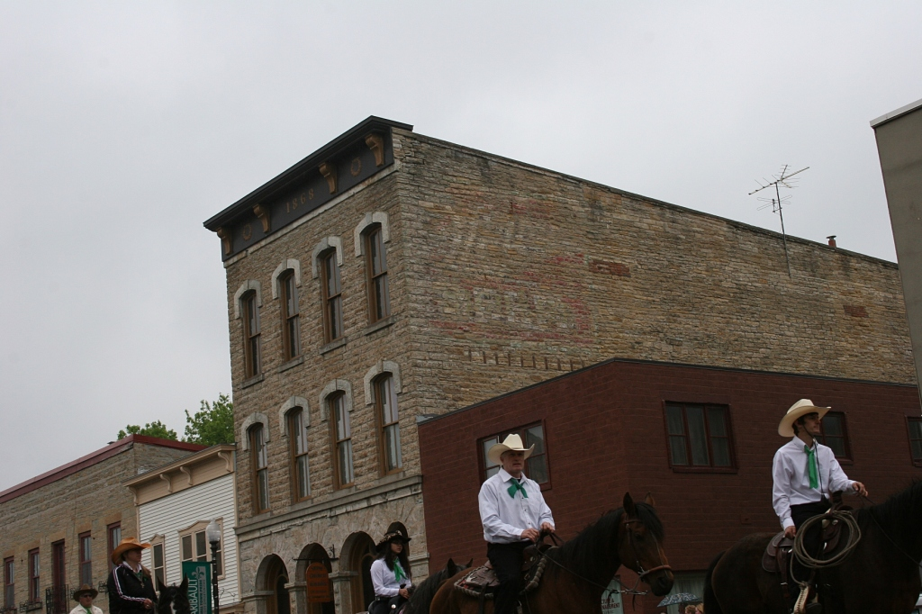 Horses on parade through our historic downtown.