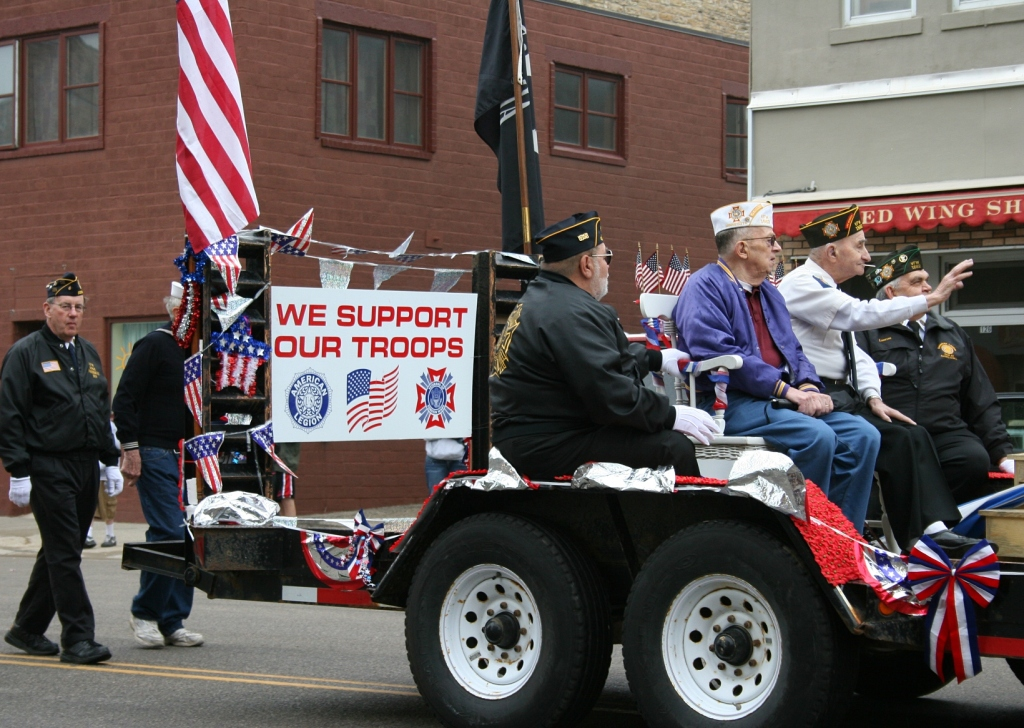 Veterans riding in the parade.