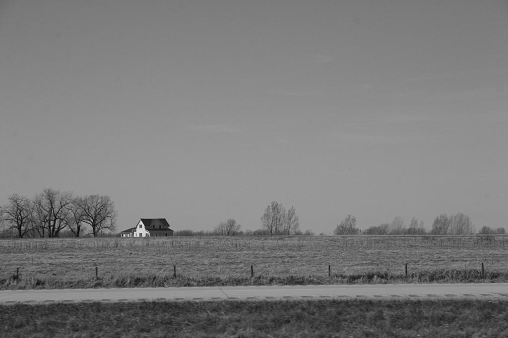 Rural scene, farmhouse