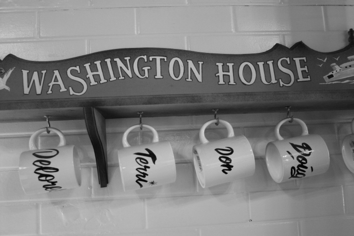 A snippet of small town life inside the Washington House.
