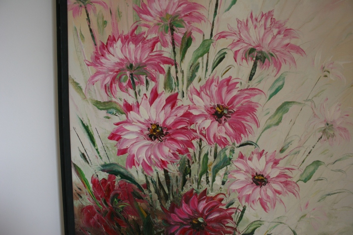 A section of the floral painting I purchased.
