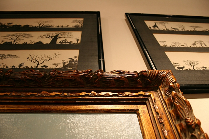 Some artists come to the sale and buy the art just for the frames.