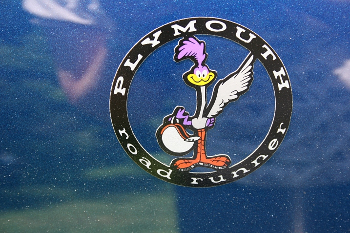 On the front of a Road Runner car.