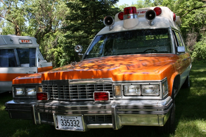 This ambulance transported patients to the  Tracy Hospital and to other hospitals, including in Sioux Falls, S.D.